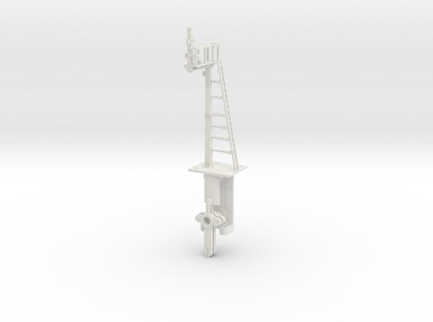RH Offset Bracket Signal HO NSWGR LQ in White Natural Versatile Plastic