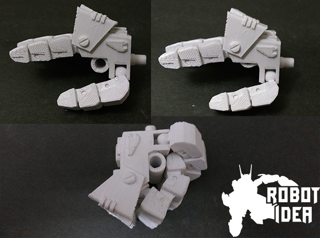COMBINER BIG FIST RIGHT in White Natural Versatile Plastic