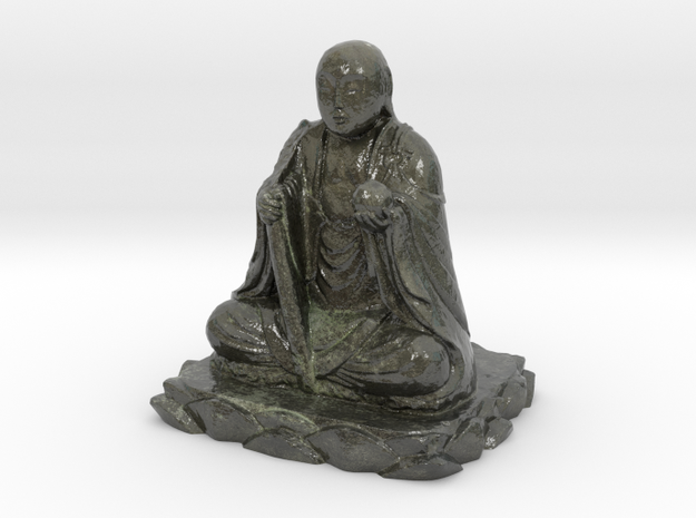 Small Buddha in Glossy Full Color Sandstone