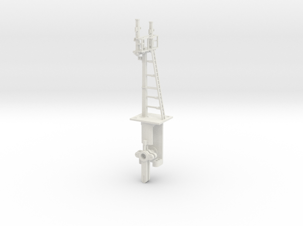 Mid-Bracket Signal Right Main Doll HO NSWGR LQ in White Natural Versatile Plastic