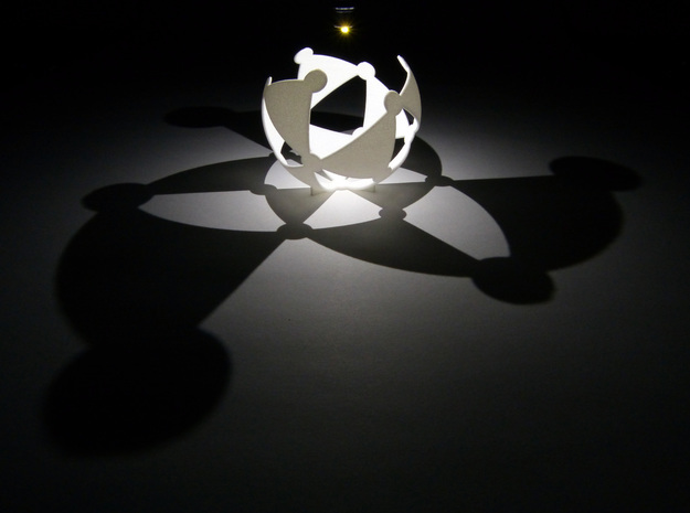 (3,3,2) triangle tiling (stereographic projection) in White Natural Versatile Plastic