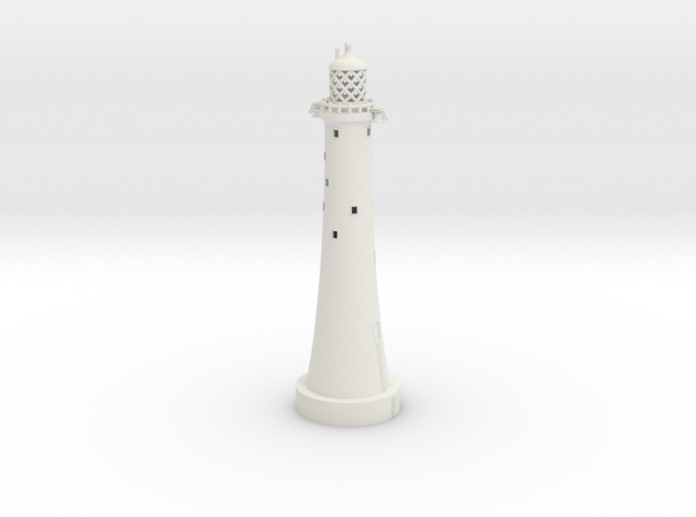 Eddystone Lighthouse 1/350th scale in White Natural Versatile Plastic