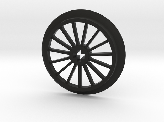 Large Thin Train Wheel in Black Strong & Flexible