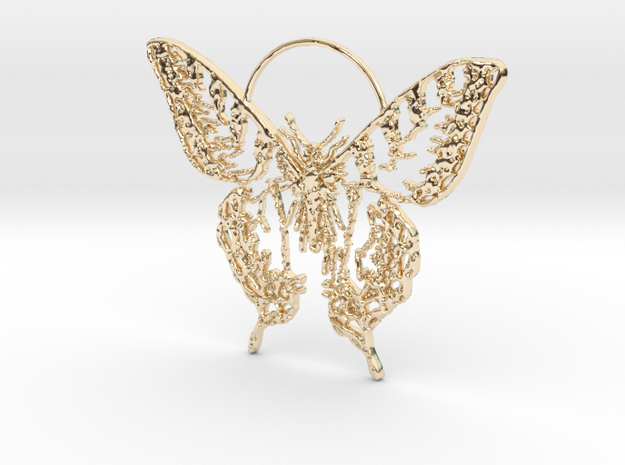 Butterfly 2 in 14k Gold Plated Brass