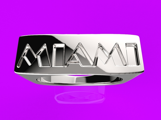 Miami Ring 3d printed