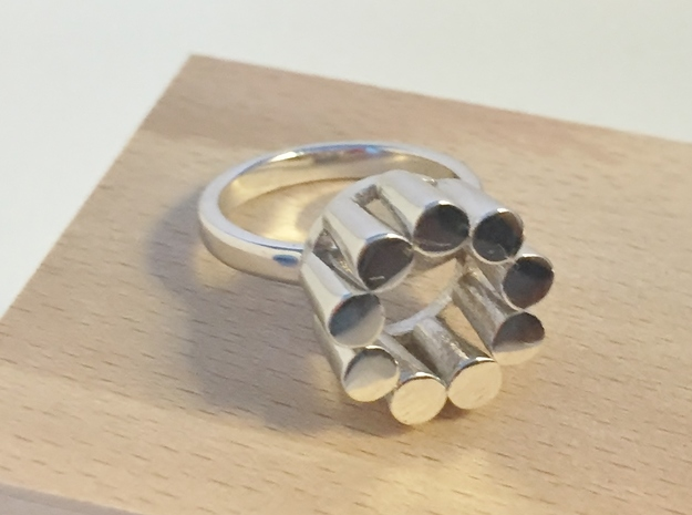 Lampadario Ring in Rhodium Plated