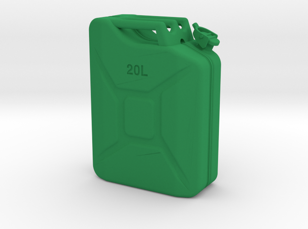 Crawler Scale Jerry Can / gas can in Green Strong & Flexible Polished