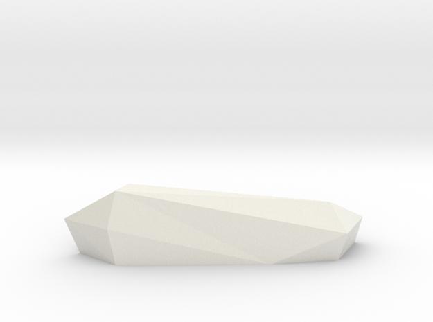 Roc 1 (Handle/Pull) in White Natural Versatile Plastic