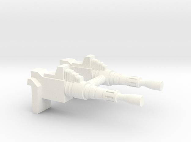MASK Volcano Turret Cannon in White Processed Versatile Plastic