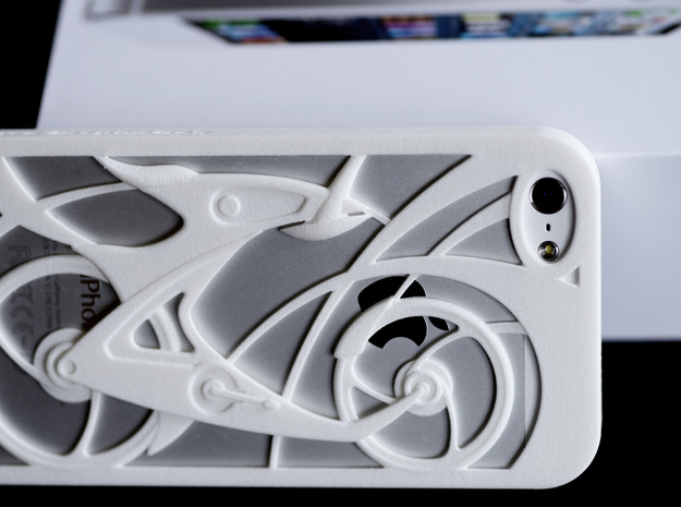 Innovative Bicycle iPhone5/5s Case 3d printed Innovative Bicycle iPhone5/5s Case in white