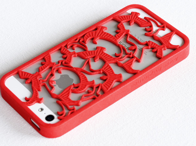 Birds Silhouette iPhone5/5s Case in Red Processed Versatile Plastic