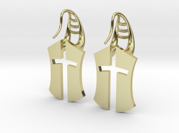 """""""Nation's Battle"""" full Earrings in 18k Gold Plated Brass"""