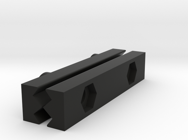 Rail To Rail Adapter 55mm in Black Natural Versatile Plastic