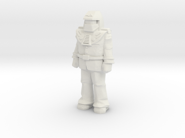 Miles Mayhem, standing, 35mm Mini in White Natural Versatile Plastic