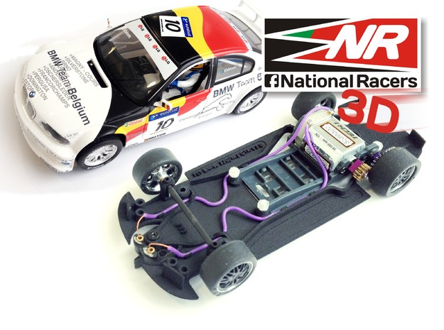 3D chassis for Fly 320i/M3 GTR (Combo)  in Black Strong & Flexible