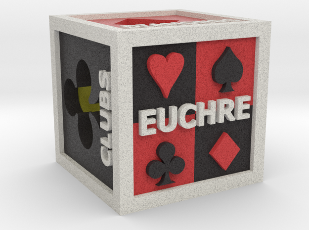 Euchre Dice (Hollow) in Full Color Sandstone
