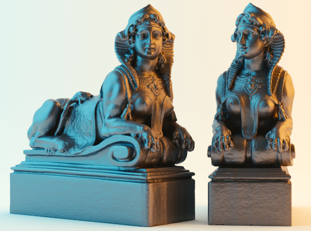 Mythical Sphinx in Black Natural Versatile Plastic