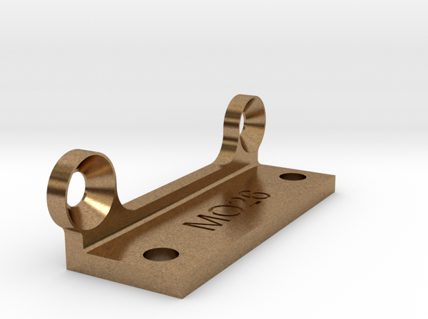 MO26-1.1 - TL-01 - Mount for droop block  in Raw Brass