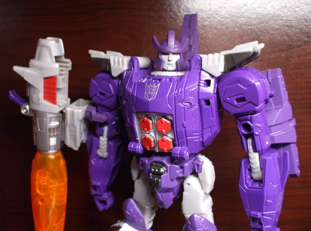 Alternate Head for Titans Return Galvatron in Smooth Fine Detail Plastic