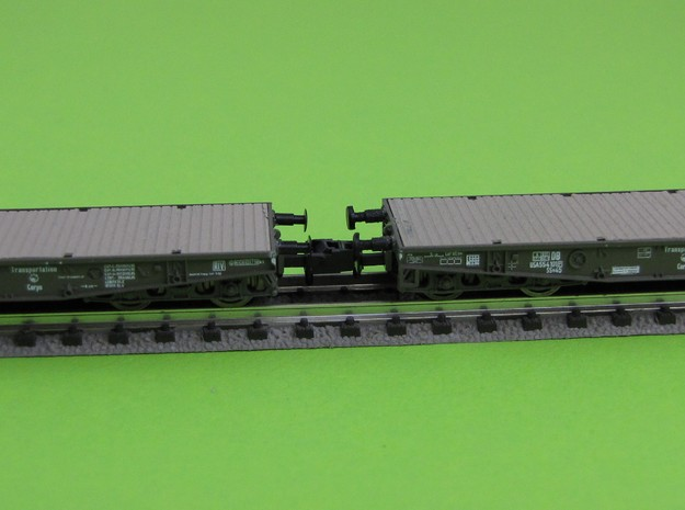 1:160 n scale buffer ROCO Flatbed Ssy x3 in Smooth Fine Detail Plastic