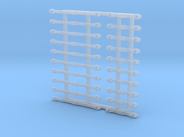 16th Scale Turnbuckles, Long-Short in Smoothest Fine Detail Plastic
