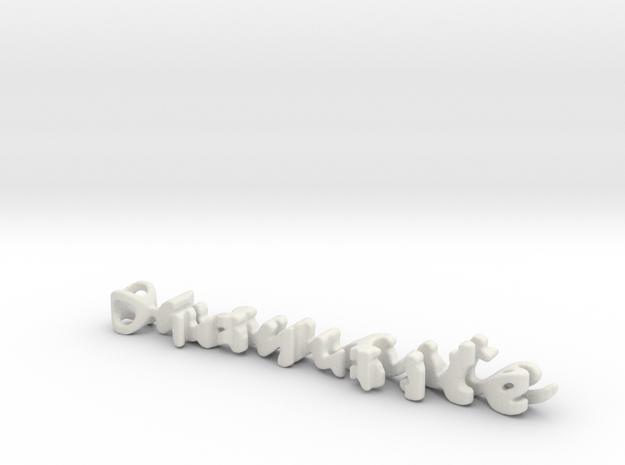 Twine namaste/practice in White Natural Versatile Plastic