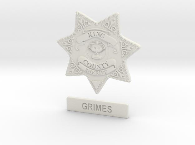 Walking Dead sheriff Grimes badge