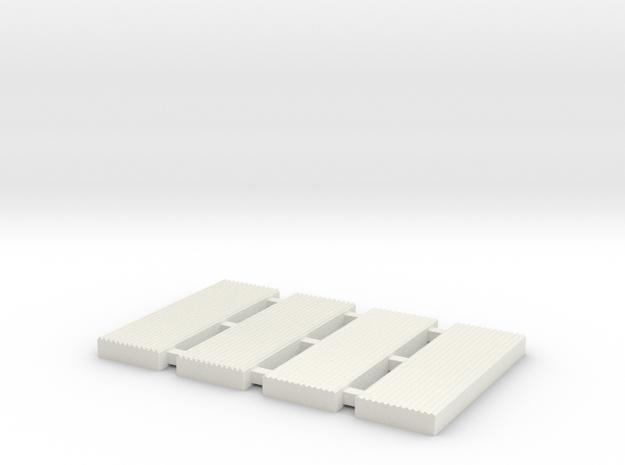 N gauge Corrugated Sheet Die (test run) in White Strong & Flexible