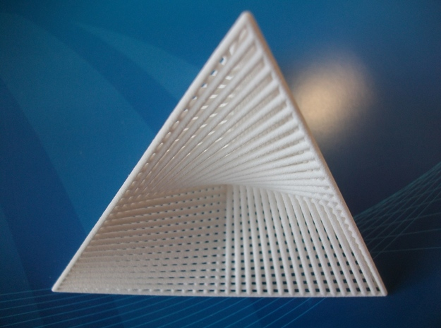 Wired Tetrahedron 3d printed