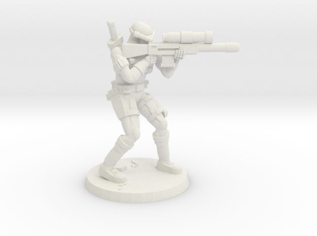 38mm SpecFor Sniper 7 in White Natural Versatile Plastic