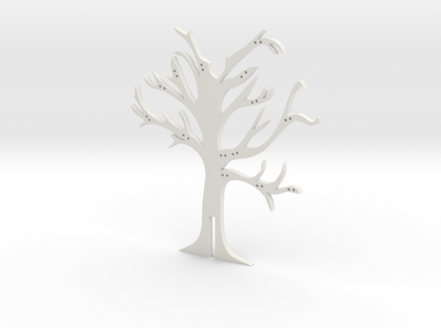 """Holder """"2d-tree-a"""" in White Natural Versatile Plastic"""