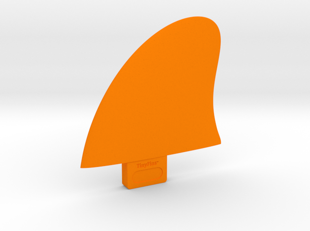 """TinyFins X 3,1"""" fc in Orange Strong & Flexible Polished"""
