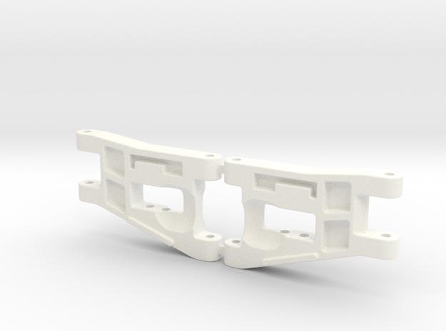 RC10 A-ARM FRONT LWB-001 in White Processed Versatile Plastic