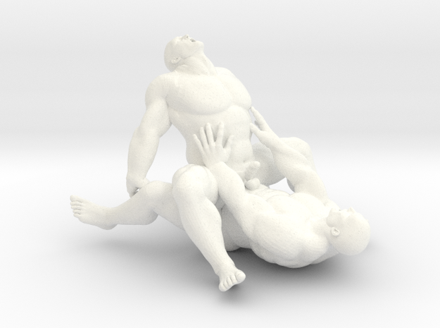 Beefy Couple in White Strong & Flexible Polished