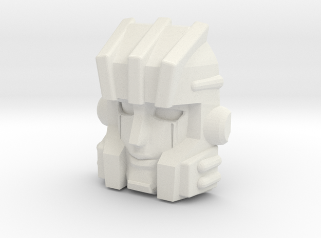 Stranglehold, Inner Robot Face (Titans Return) in White Natural Versatile Plastic