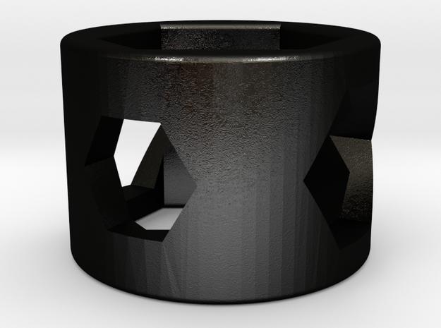 Torq Ring in Matte Black Steel