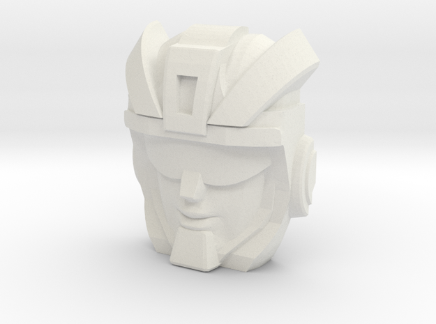 Bumper Face (Titans Return) in White Natural Versatile Plastic