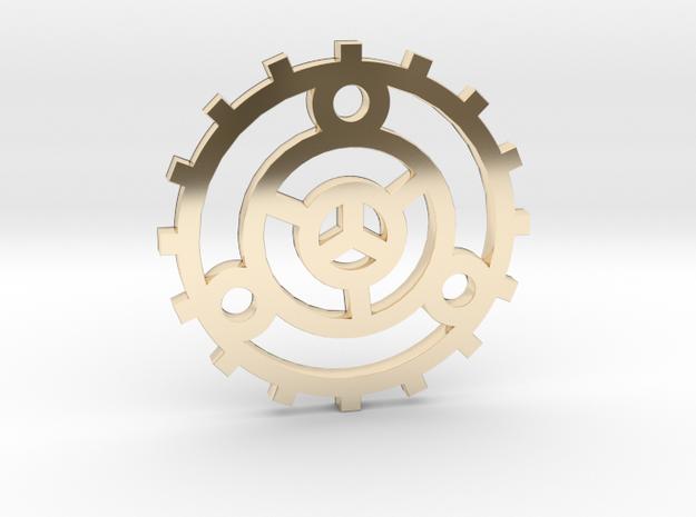 Fortune Wheel / Rueda de la Fortuna in 14K Gold