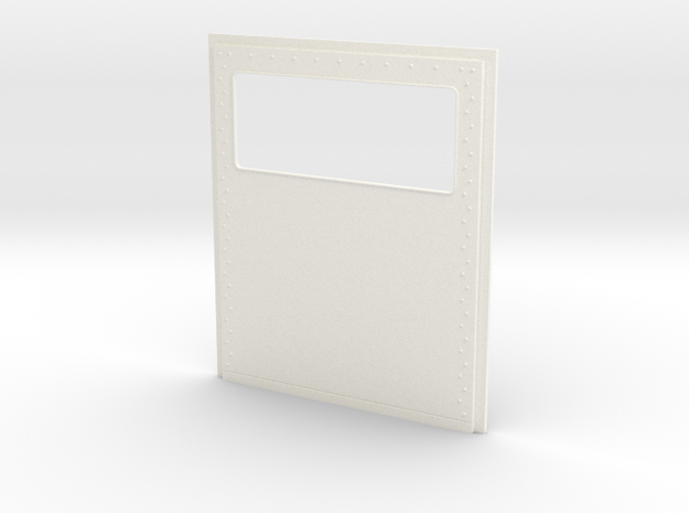 King Hauler Daycab Panel, Large Window, No Lights in White Processed Versatile Plastic