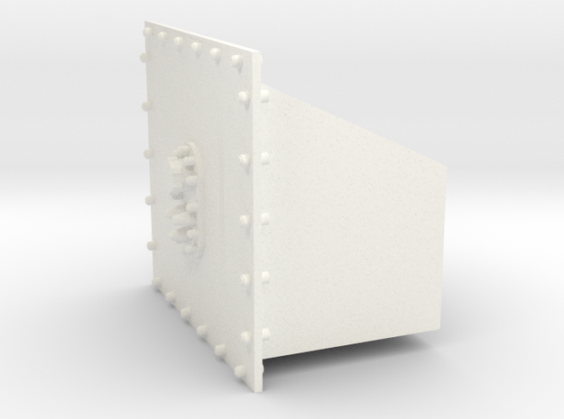 Wedge tank in White Processed Versatile Plastic