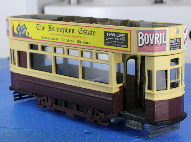 Brighton 'F' Class tram 4mm scale in White Strong & Flexible Polished