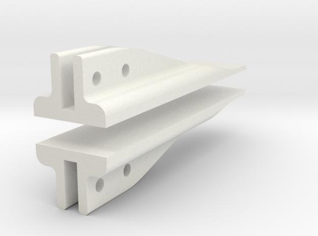 Caliper Inserts For Line in White Natural Versatile Plastic
