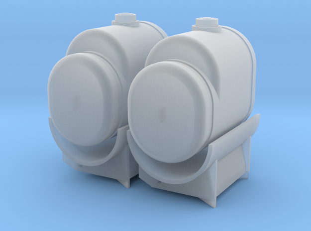 1/64th Scale 260 Gallon Saddle Tanks in Frosted Ultra Detail