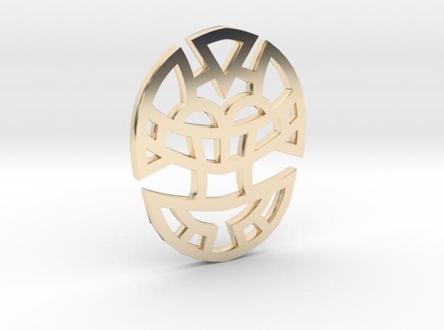 Cosmic Egg / Huevo Cósmico in 14K Gold