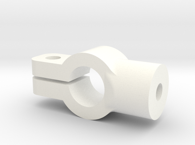 Tamiya SRB rear coilover mount in White Processed Versatile Plastic