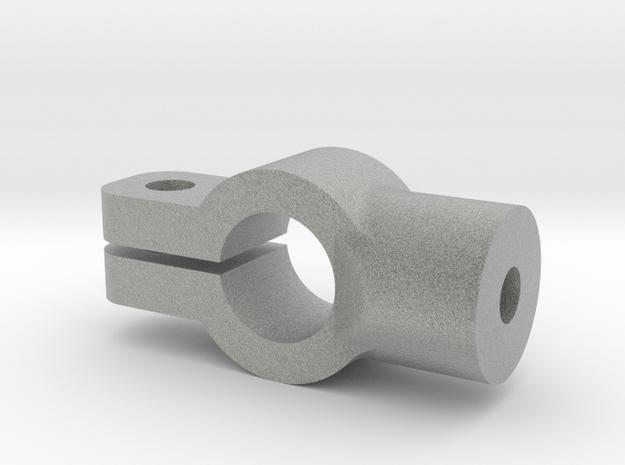 Tamiya SRB rear coilover mount in Metallic Plastic