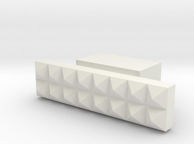 LUX3 in White Natural Versatile Plastic