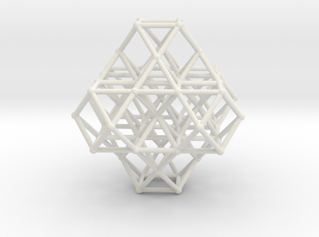 Vector Equilibrium Cuboctahedrons Grid 8Octa 7VE in White Natural Versatile Plastic