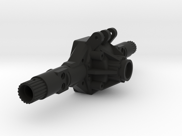 NCX10 XR Width Scale Axle Housing in Black Natural Versatile Plastic