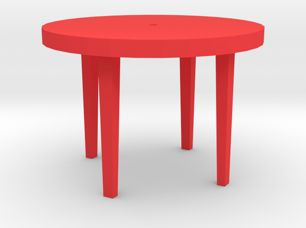 Patio Table With Tapered Legs.